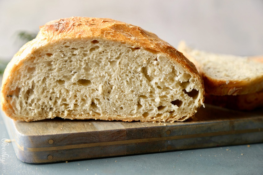 Homemade bread with sourdough, natural yeast.
